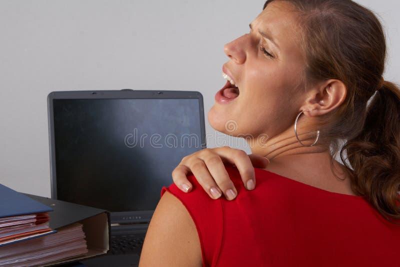 Donna nel dolore fotografia stock libera da diritti