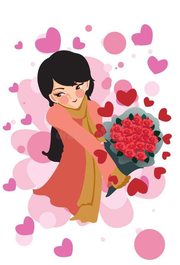 Donna nell'amore illustrazione di stock