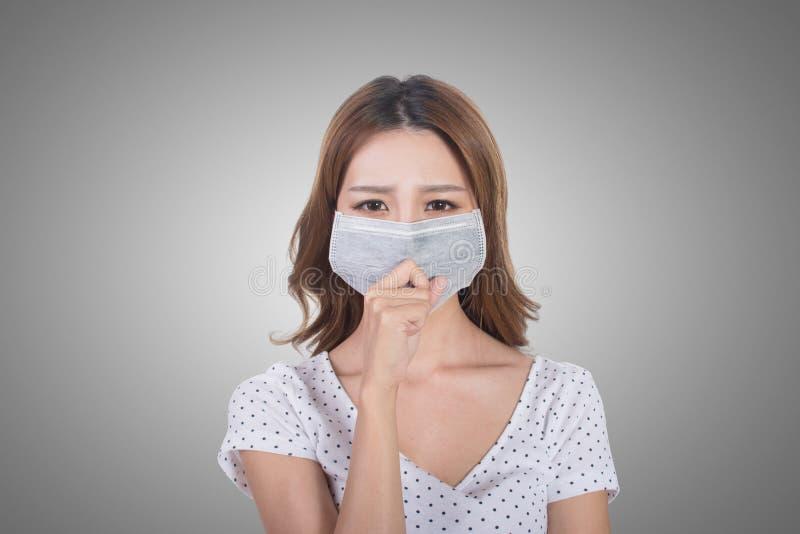 Donna nella maschera immagine stock libera da diritti