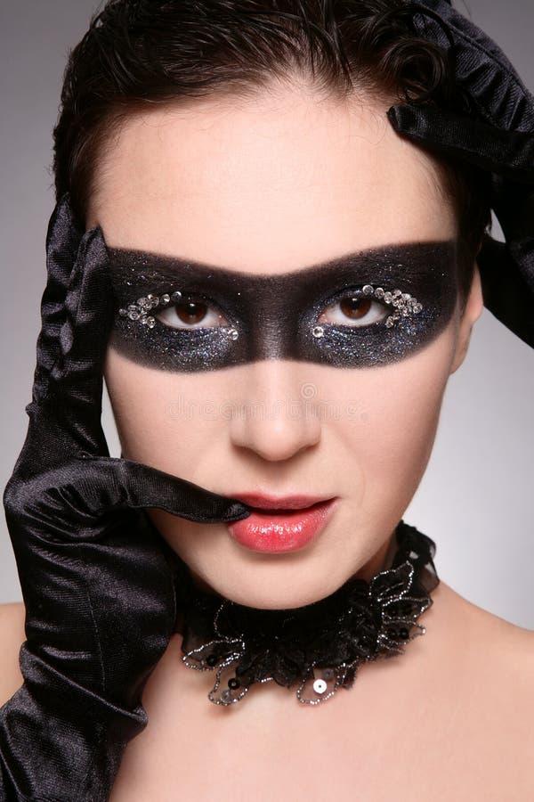 Donna nella mascherina immagine stock libera da diritti