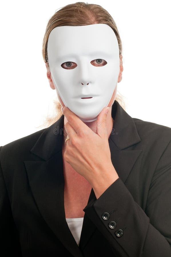 Donna nella mascherina immagini stock libere da diritti