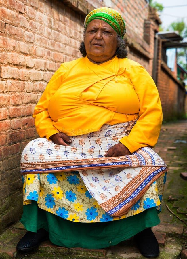 Donna nepalese fotografie stock libere da diritti
