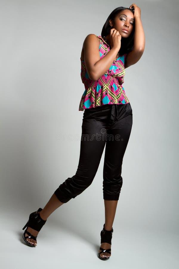Donna nera di modo fotografie stock libere da diritti