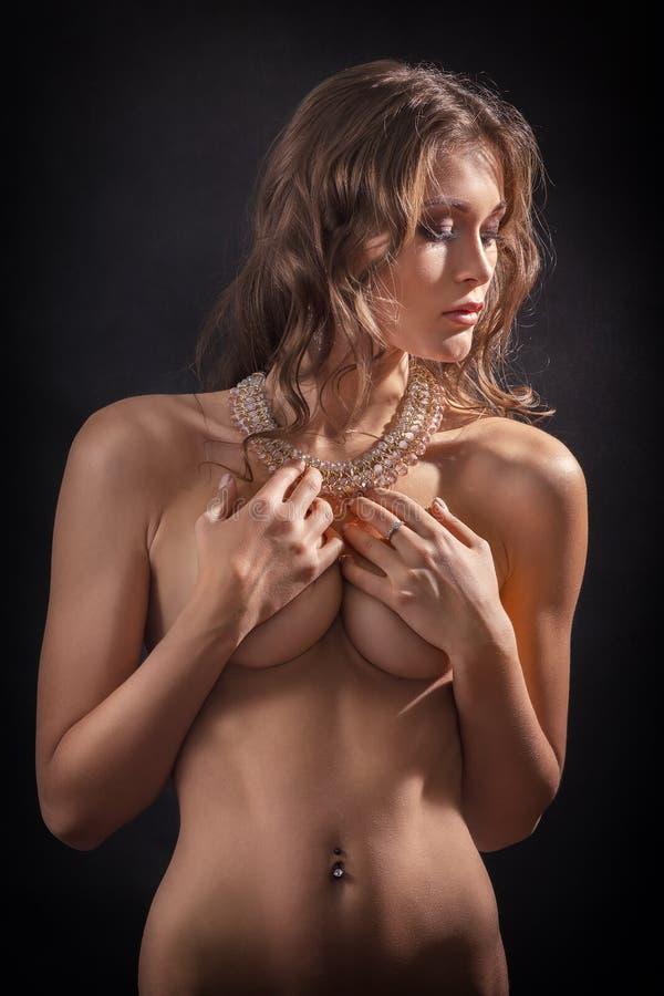 Donna nuda di lusso immagini stock