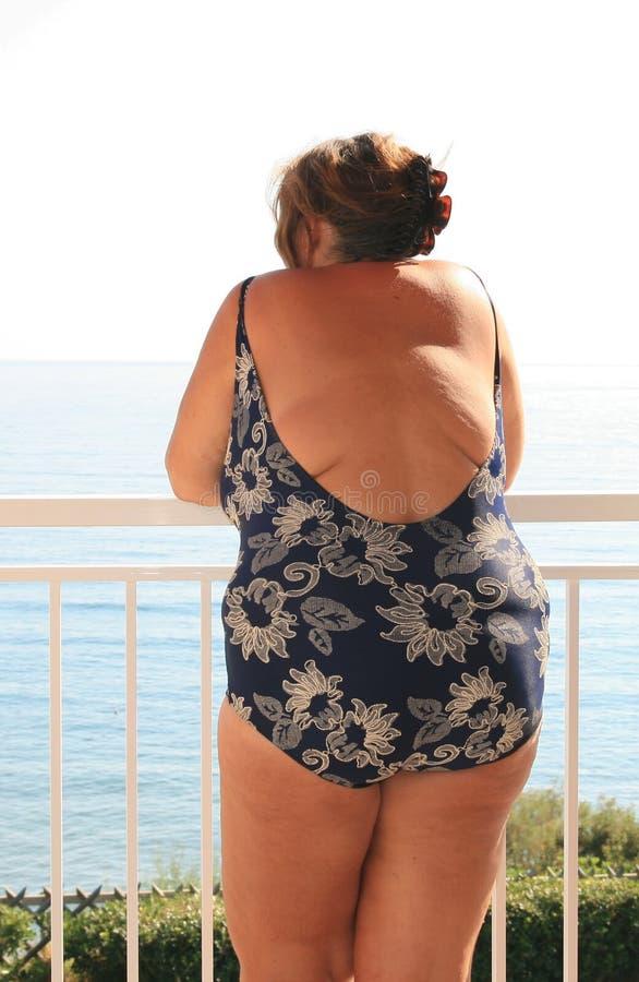 Donna obesa fotografia stock libera da diritti