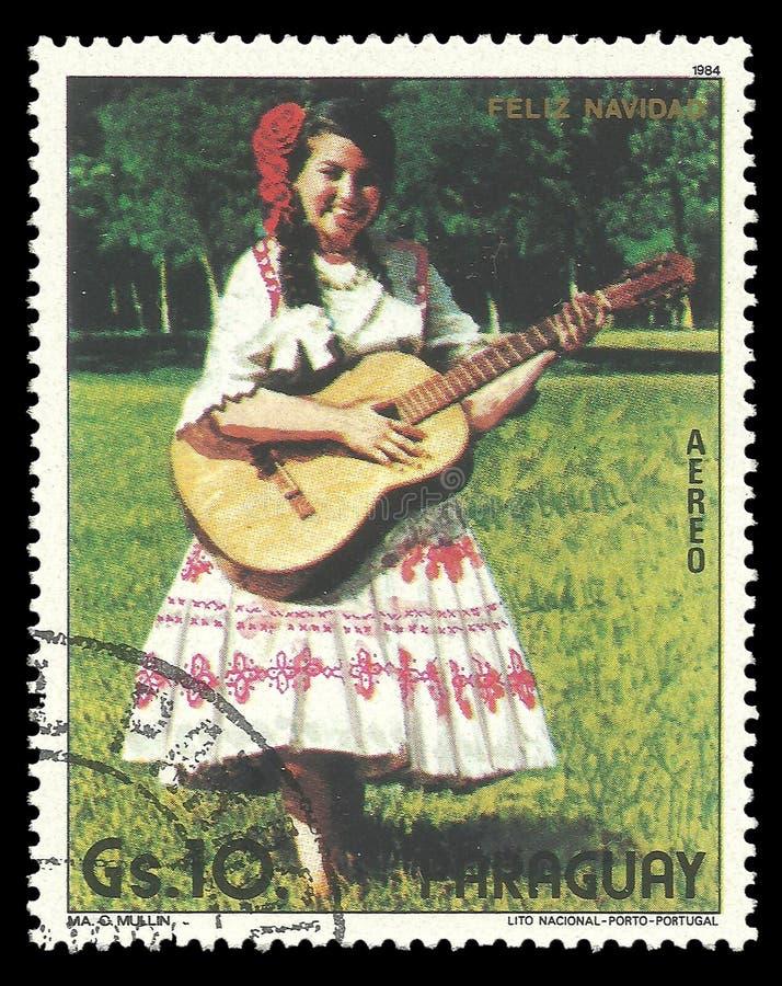 Donna paraguaiana in costume fotografia stock libera da diritti