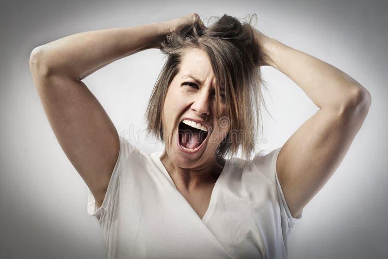 Donna pazzesca fotografie stock libere da diritti