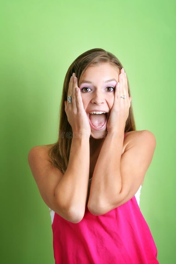 Donna pazzesca di grido fotografie stock libere da diritti