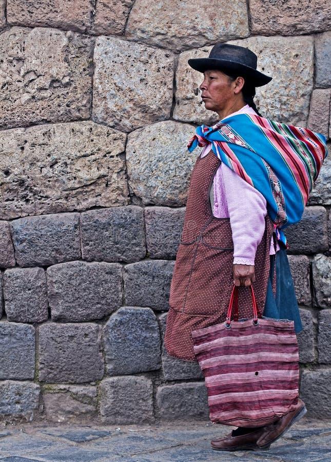 Donna peruviana immagini stock