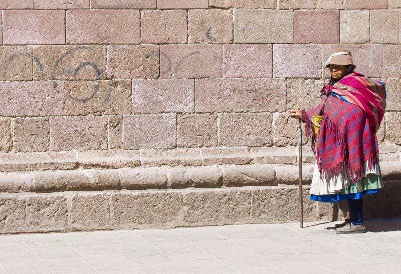 Donna peruviana immagine stock libera da diritti