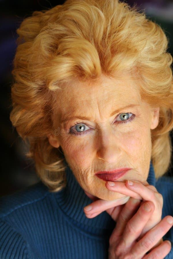 Donna più anziana fotografia stock