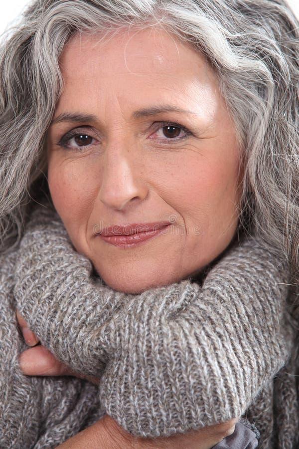 Donna più anziana immagini stock