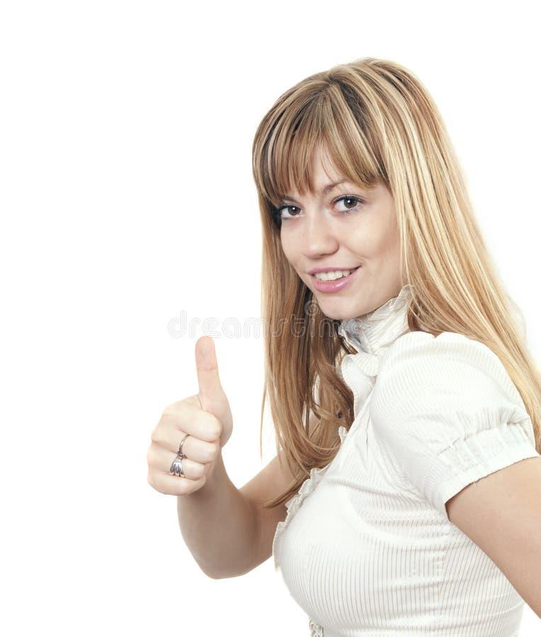 Donna positiva fotografie stock libere da diritti