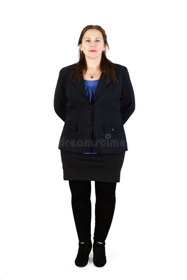 Donna professionale sopra bianco immagine stock
