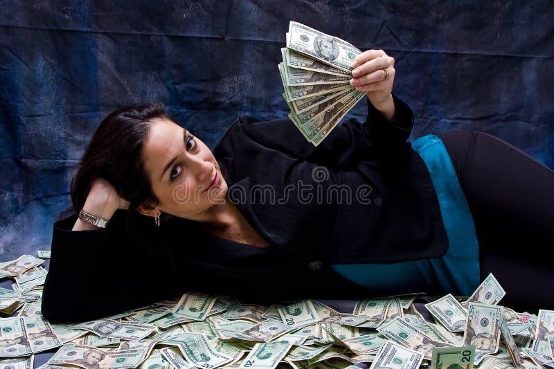 Donna ricca immagini stock libere da diritti