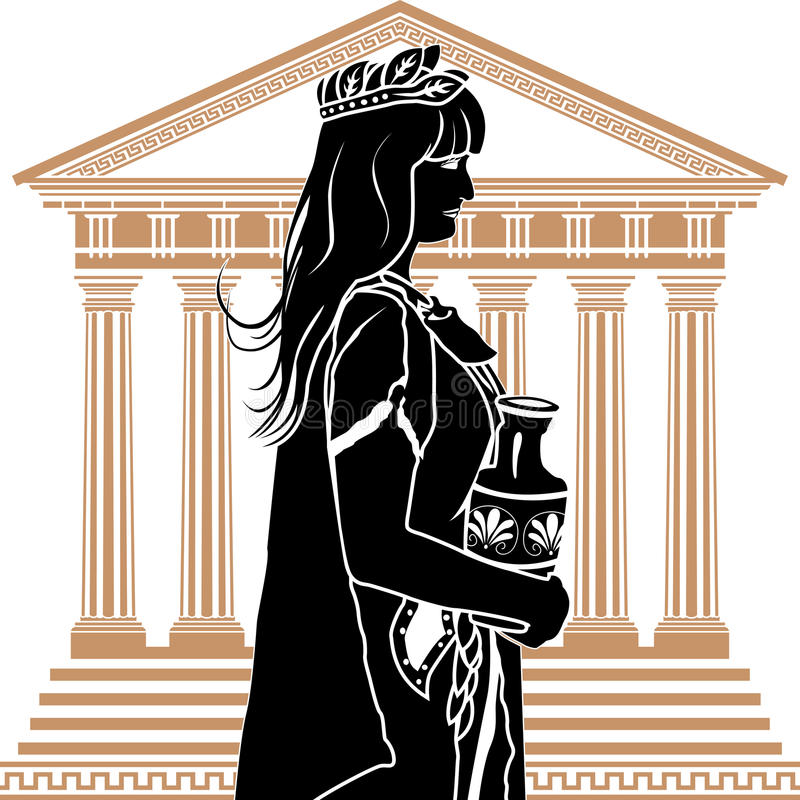Donna romana del patrician royalty illustrazione gratis