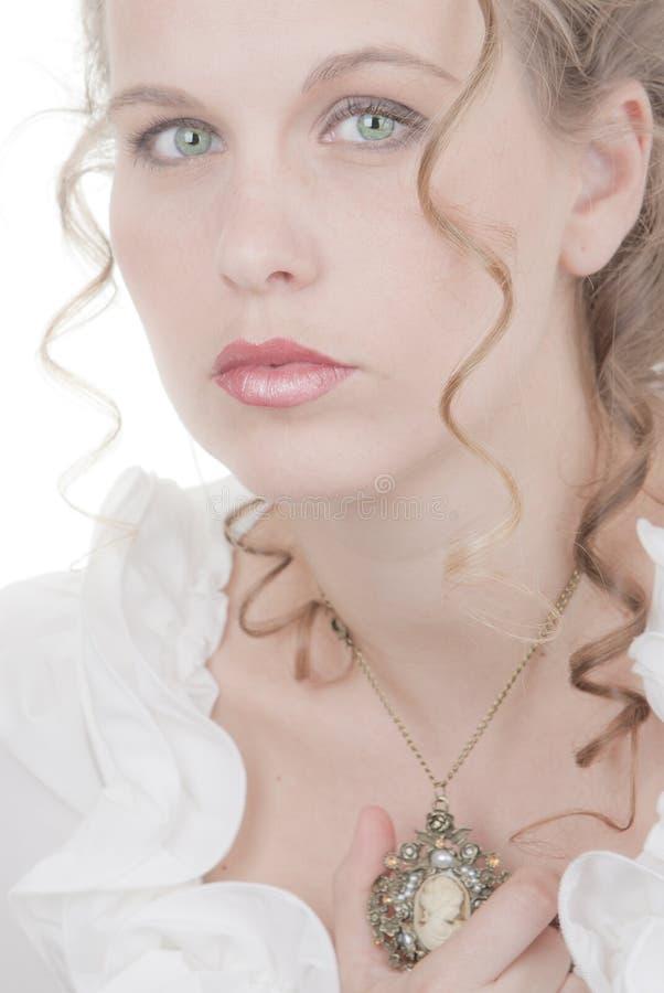 Donna romantica immagine stock