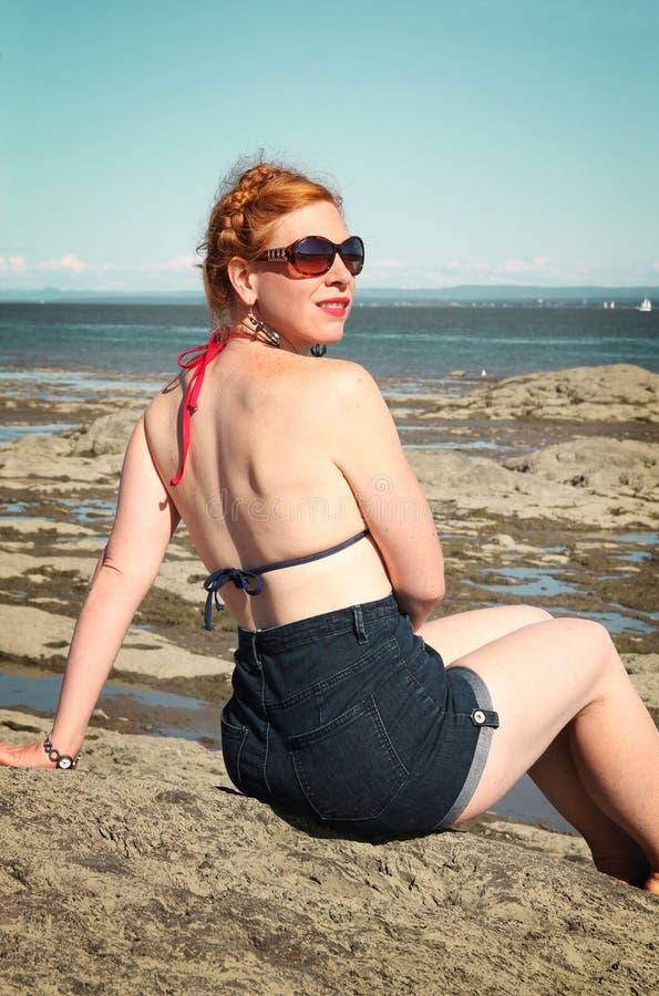 Donna rossa dei capelli immagini stock