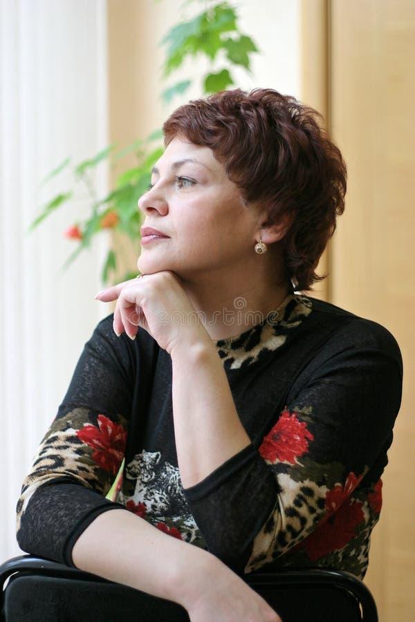 Donna russa fotografie stock