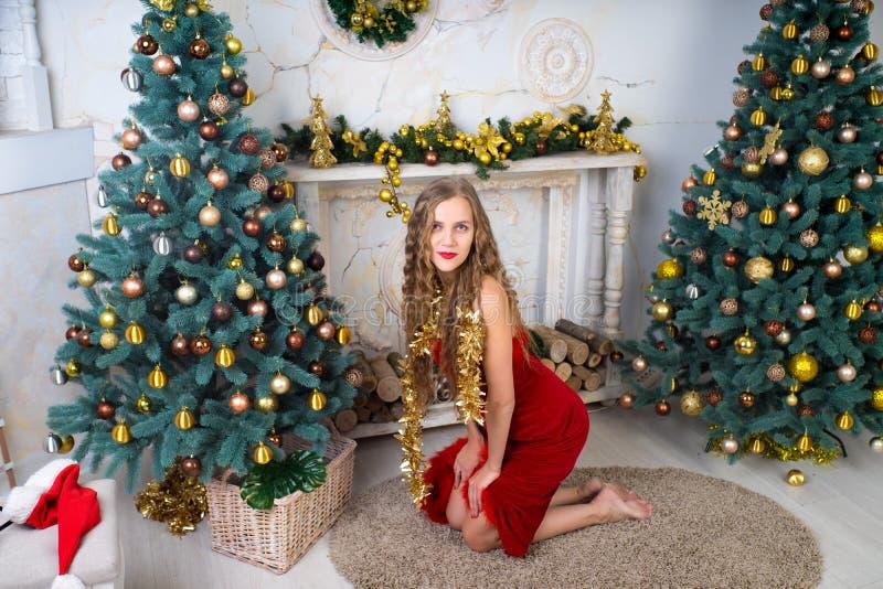Donna Santa sexy immagine stock