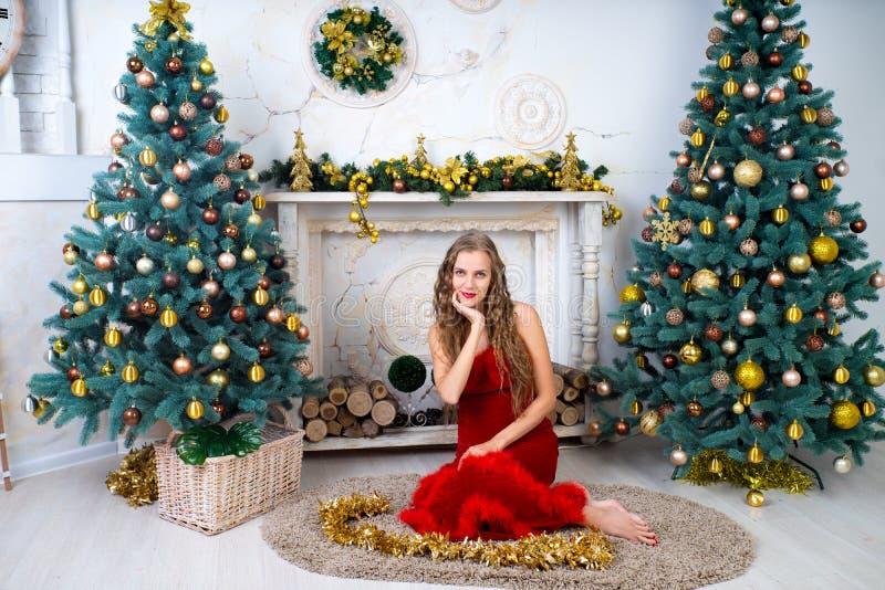 Donna Santa sexy immagini stock libere da diritti