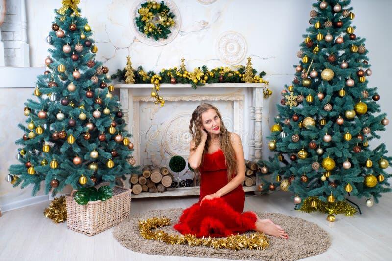 Donna Santa sexy fotografie stock libere da diritti