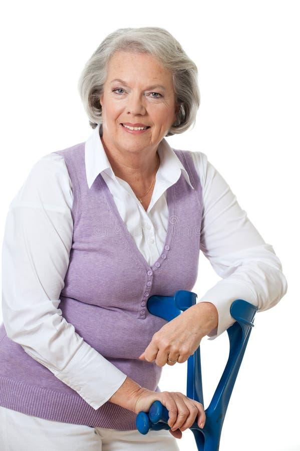 Donna senior immagine stock