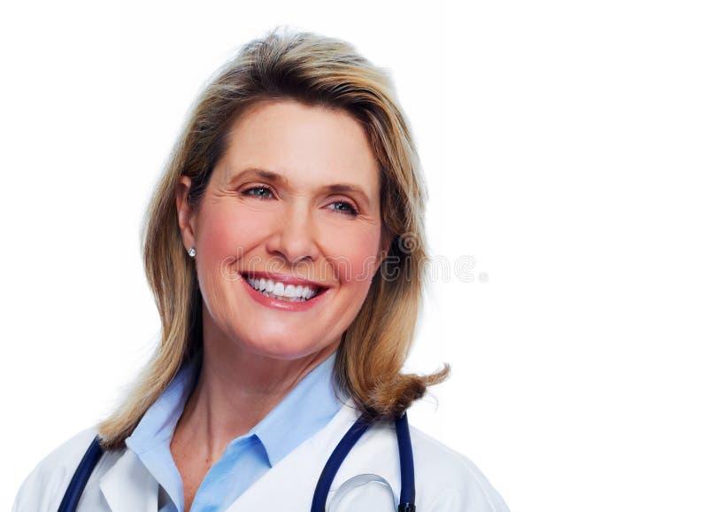 Donna senior di medico fotografie stock