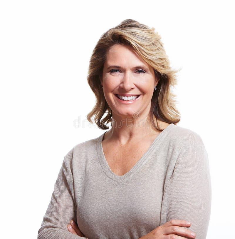 Donna senior felice. fotografia stock libera da diritti