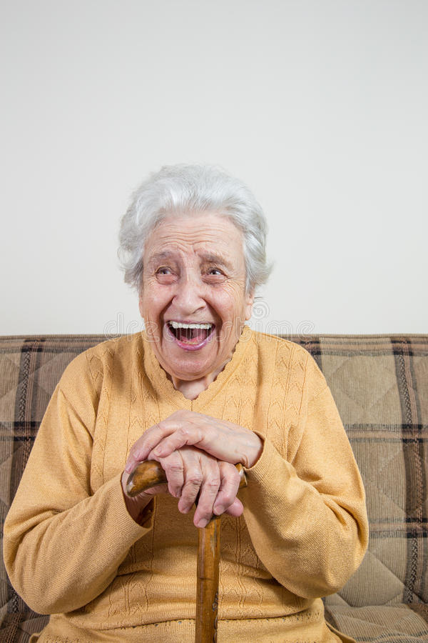 Donna senior felice fotografie stock libere da diritti
