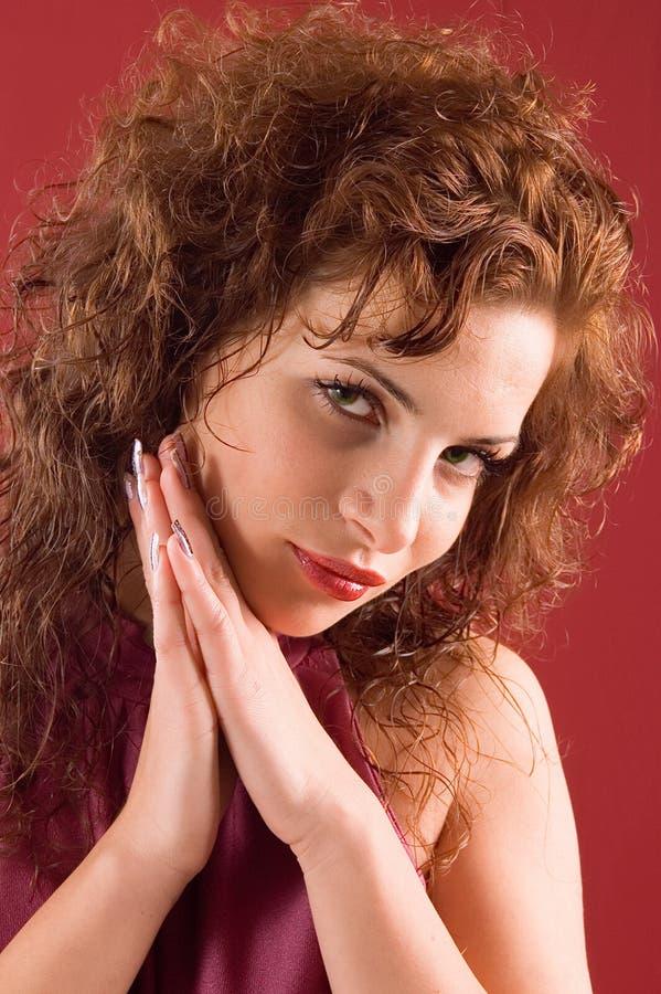 Donna sensuale del ritratto fotografia stock