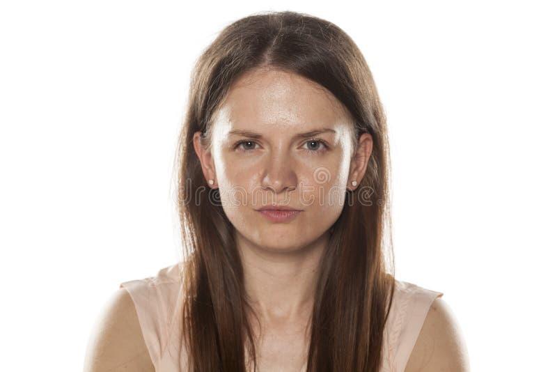 Donna senza trucco immagini stock libere da diritti