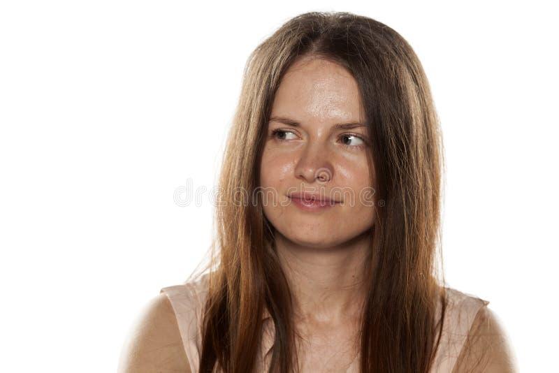 Donna senza trucco fotografie stock libere da diritti