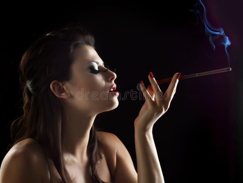 Donna sexy con il boccaglio fotografie stock