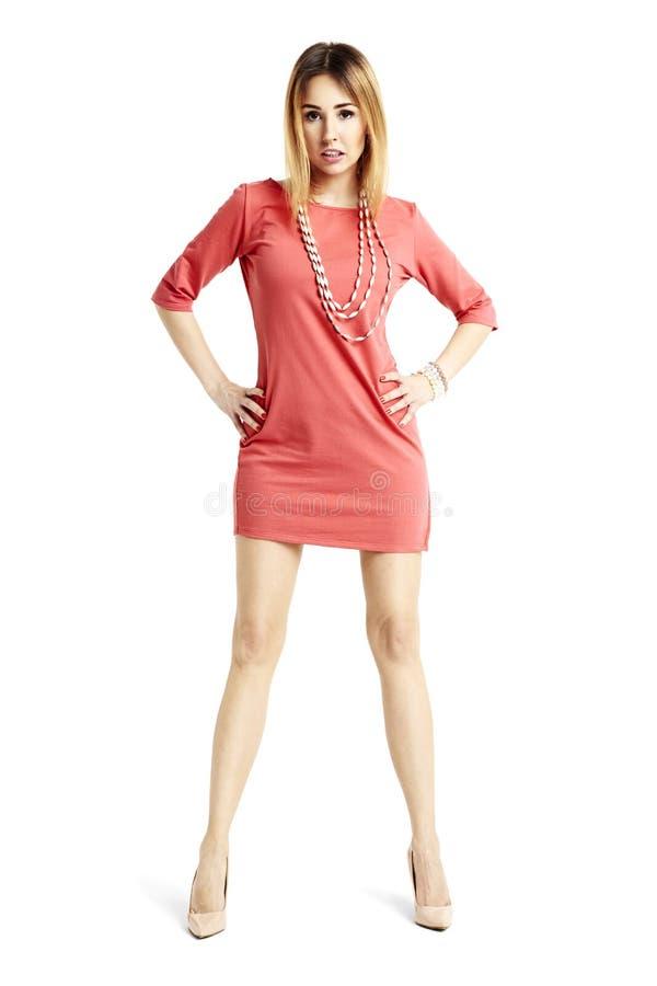 Donna sexy con le gambe ben fatto fotografia stock