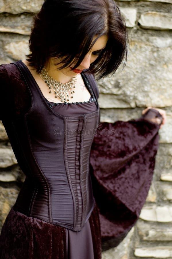 Donna sexy del vampiro fotografia stock
