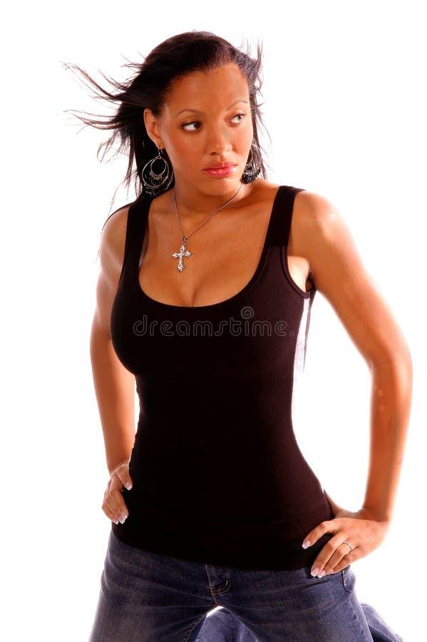 Donna sexy dell'afroamericano immagini stock libere da diritti