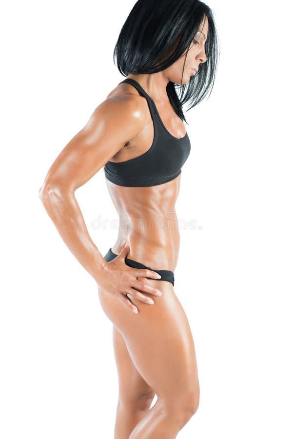Donna sexy dell'ente muscolare immagini stock libere da diritti