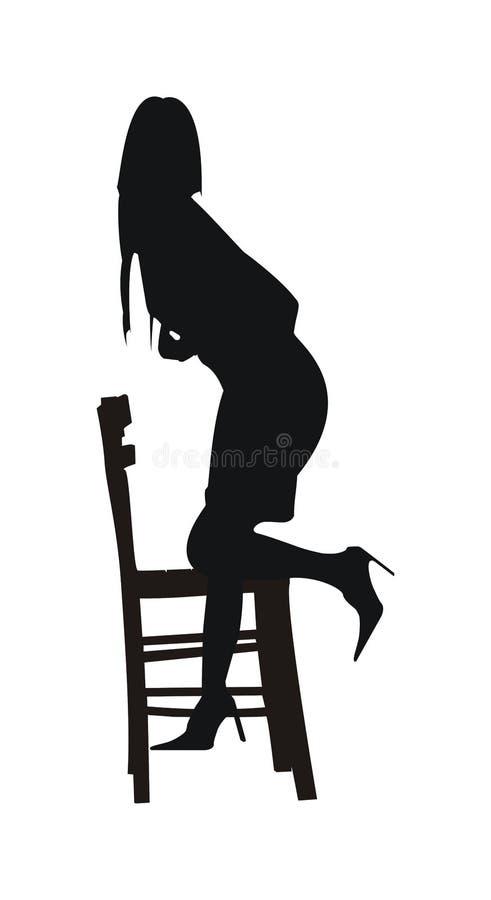 Donna sexy della ragazza illustrazione vettoriale