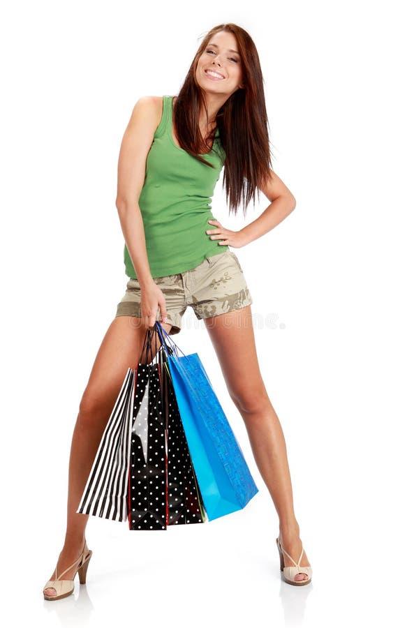 Donna sexy di acquisto. fotografie stock
