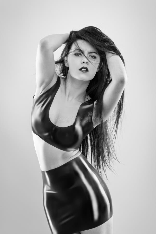 Donna sexy in lattice immagini stock libere da diritti