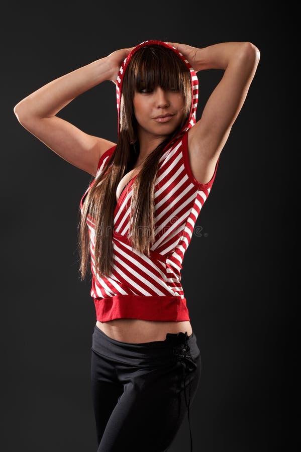 Donna sexy in studio fotografia stock libera da diritti