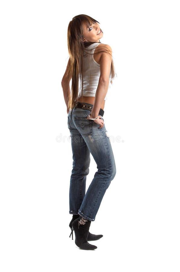 Donna sexy in studio fotografie stock libere da diritti