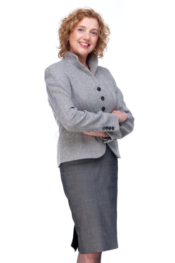 Donna sicura di affari fotografia stock