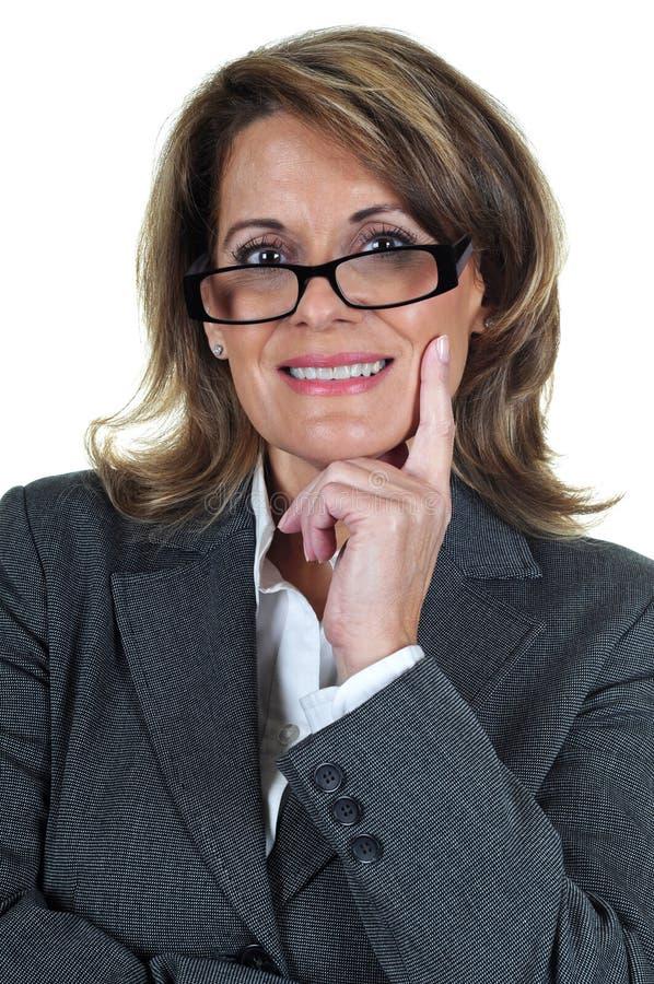 Donna sicura di affari maturi fotografie stock