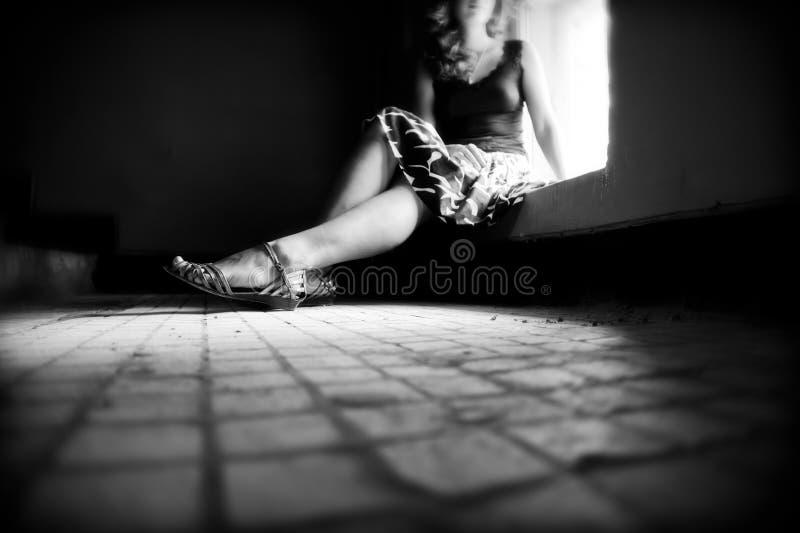 donna sola fotografia stock libera da diritti