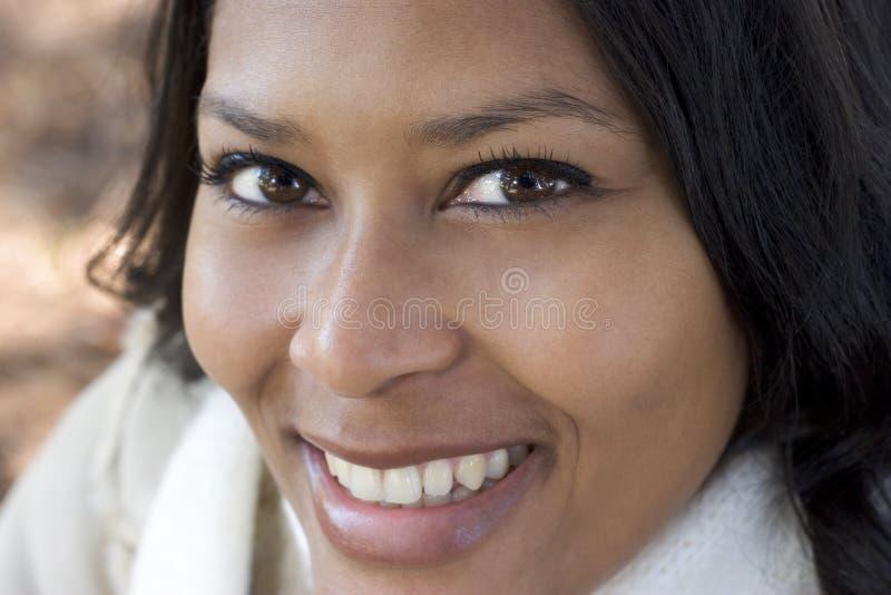 Donna sorridente immagini stock