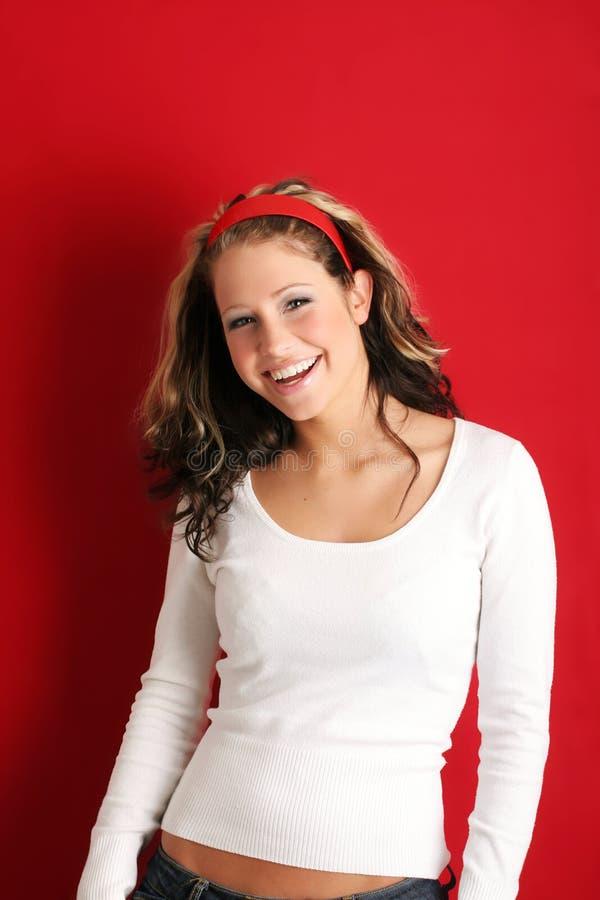 Donna sorridente fotografie stock libere da diritti