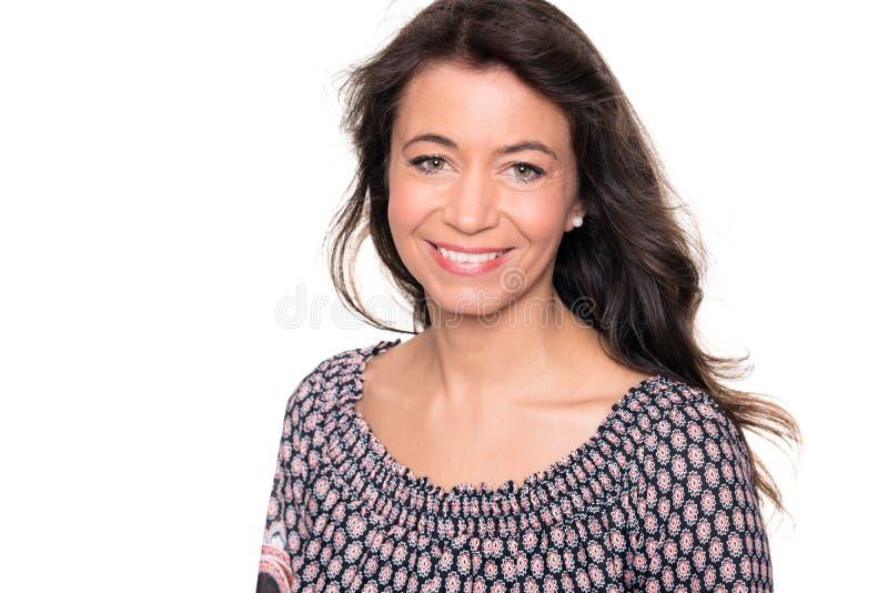 Donna sorridente fotografia stock libera da diritti
