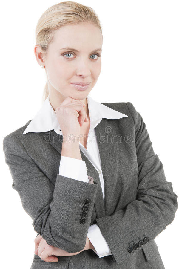 Donna sorridente attraente di affari fotografie stock